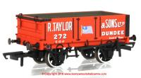 76MW4002 Oxford Rail 4 Plank Open Wagon number 272 - R Taylor & Sons Dundee