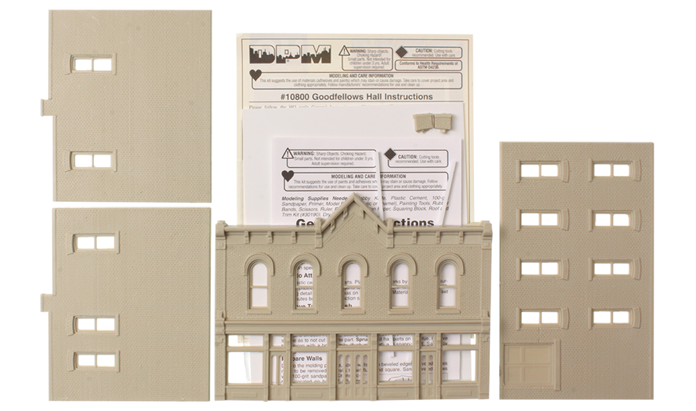DPM10800 Woodland Scenics DPM Goodfellows Hall Building Kit.