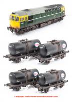 1097 Heljan Fawley Tank Pack - BR Green weathered
