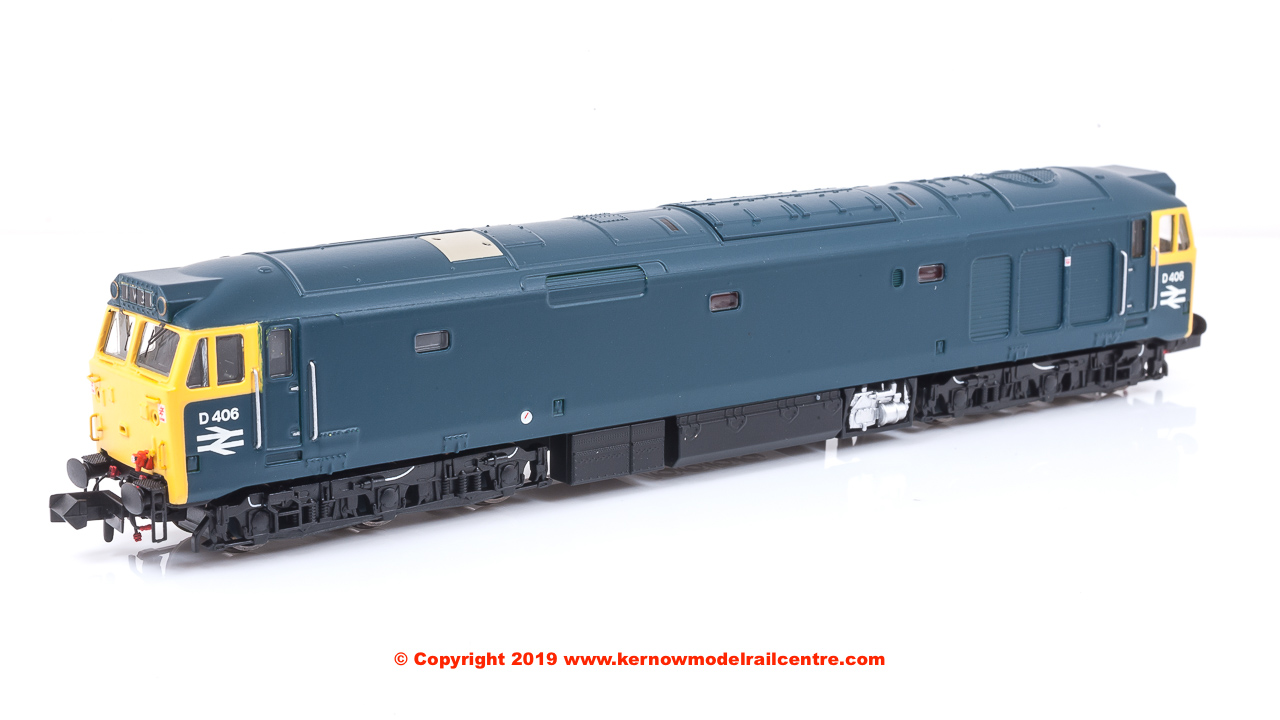 2D-002-000 Dapol Class 50 Diesel Locomotive number D406 in BR Blue livery - unrefurbished