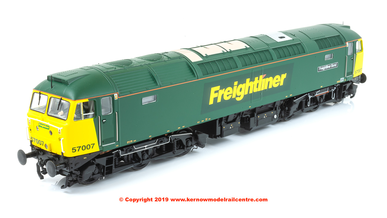 "32-753DS Bachmann Class 57/0 Diesel Locomotive number 57 007 named ""Freightliner Bond"" in Freightliner livery"