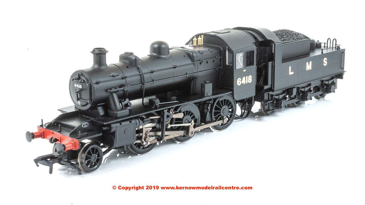 32-830A WSL Bachmann Ivatt Class 2MT 2-6-0 6418 LMS Plain Black image