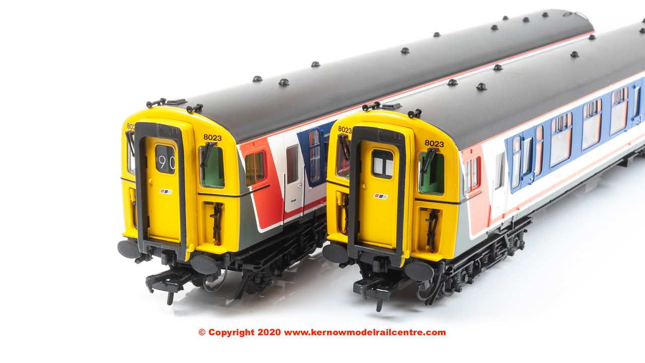 32-643Z Bachmann Class 438 4-TC Unit number 8023 in Network SouthEast livery