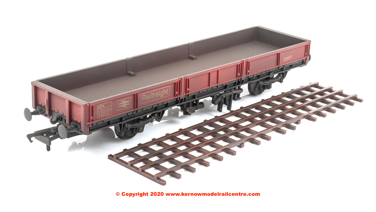 SB005B DJ Models SPA Open Wagon number 460123 in BR Railfreight livery with weathered finish