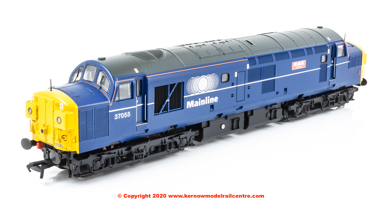 "32-775TL Bachmann Class 37/0 Diesel Locomotive number 37 055 named ""Rail Magazine"" in Mainline Freight livery"
