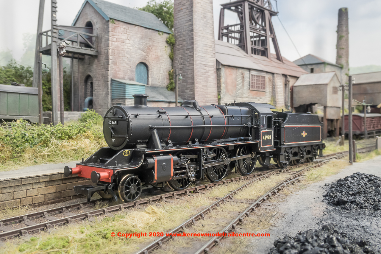 31-692 Bachmann LMS Stanier Mogul Steam Locomotive number 42968 in BR Lined Black livery with late crest