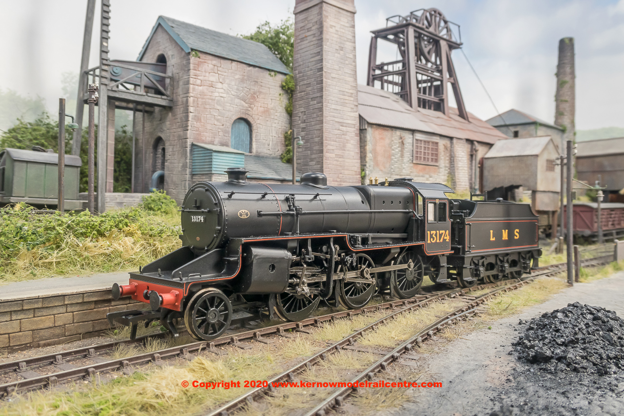 32-178A Bachmann LMS Crab Steam Locomotive number 13174 in LMS Lined Black livery