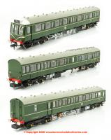 35-500SF Bachmann Class 117 3-Car DMU in BR Green with Speed Whiskers