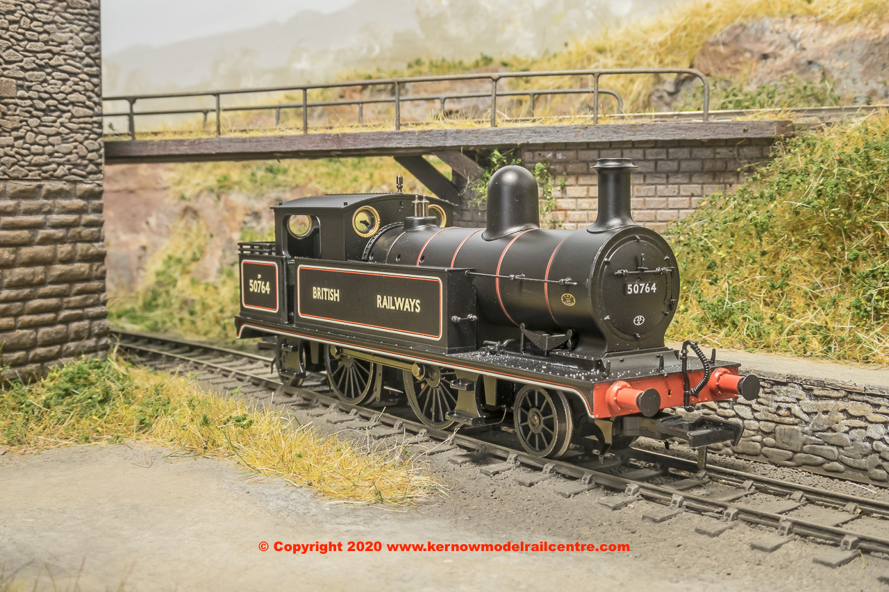 31-170 Bachmann L&YR 2-4-2 Steam Tank number 50764 in BR Black livery with BRITISH RAILWAYS lettering