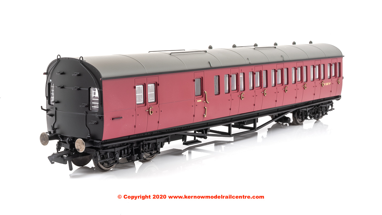 R4880 Hornby GWR Collett 57ft Bow Ended D98 Six Cmpt Brake LH Image