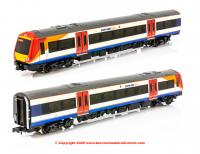 371-427A Graham Farish Class 170/3 2 Car DMU number 170 308 in South West Trains livery