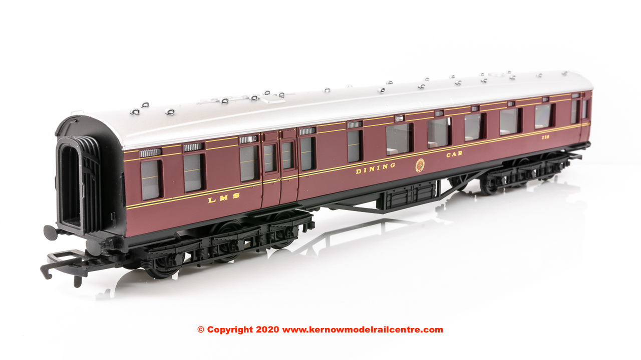 Crimson Lake Hornby R4802 LMS 68 Dining//Restaurant Car 238
