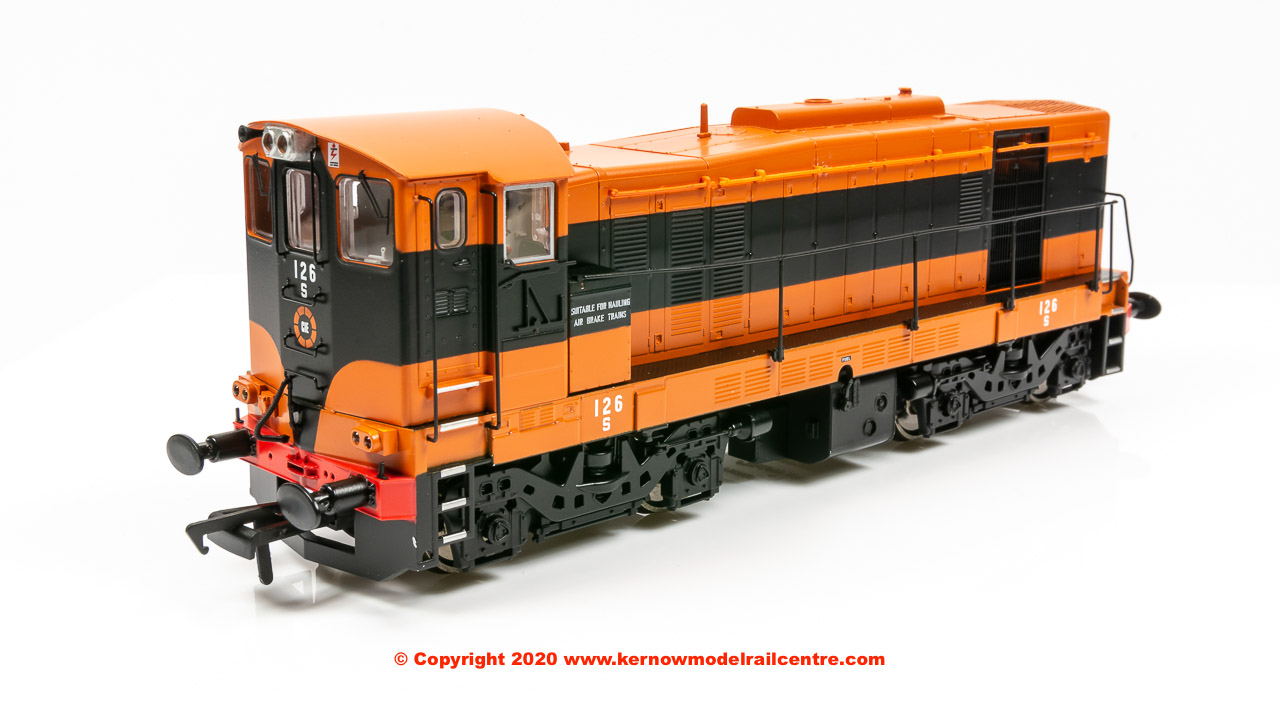 MM0126 Murphy Models Class 121 Diesel Locomotive number 126 in CIE 'Supertrain' livery