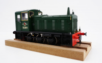 2052 Heljan Class 03 0-6-0 Diesel Locomotive Un-Numbered in BR Green with Flowerpot Exhaust