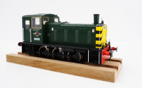 2055 Heljan Class 03 0-6-0 Diesel Locomotive Number D2033 in BR Green/Wasps with Flowerpot Exhaust