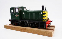 2057 Heljan Class 03 0-6-0 Diesel Locomotive Un-Numbered in BR Green/Wasps with Flowerpot Exhaust