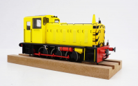 2058 Heljan Class 03 0-6-0 Diesel Locomotive Un-Numbered in Industrial Yellow with Conical Exhaust