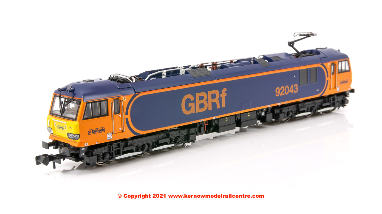 N92043 Revolution Trains Class 92 Electric Locomotive number 92 043 in Revised GBRf livery