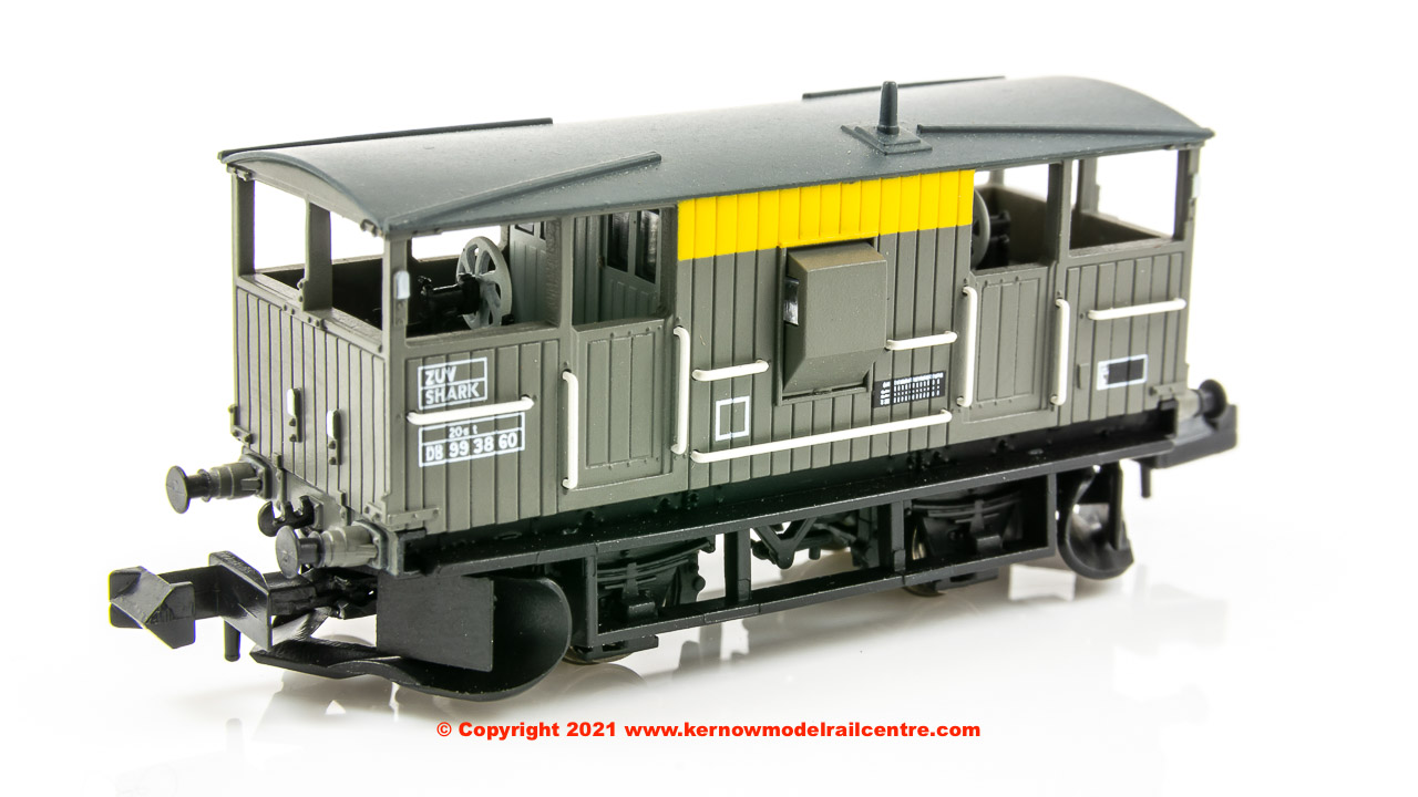 E87518 EFE Rail Shark 20 Ton Ballast Plough Brake Van DB993908