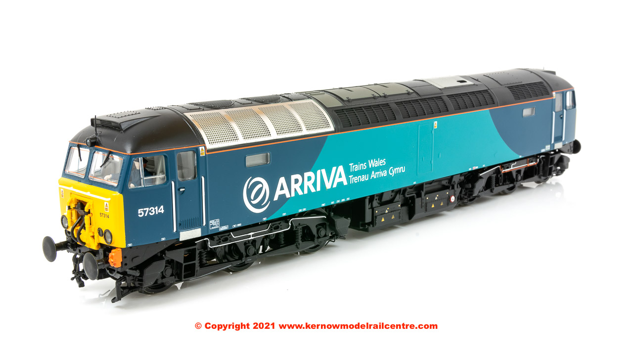 32-755A Bachmann Class 57/3 Diesel Locomotive number 57 314 in Arriva Wales livery