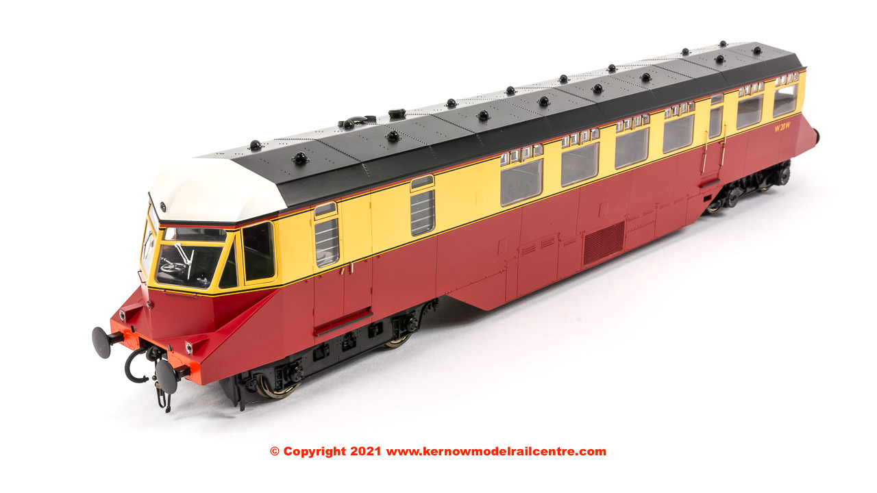 1903 Heljan GWR Railcar number W21W in BR Crimson and Cream livery