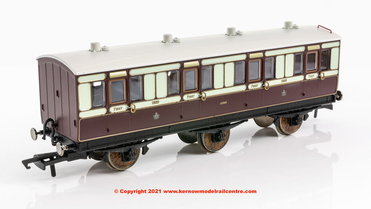 R40073 Hornby LNWR 6 Wheel 1st Class Coach number 1889 in LNWR livery - Era 2