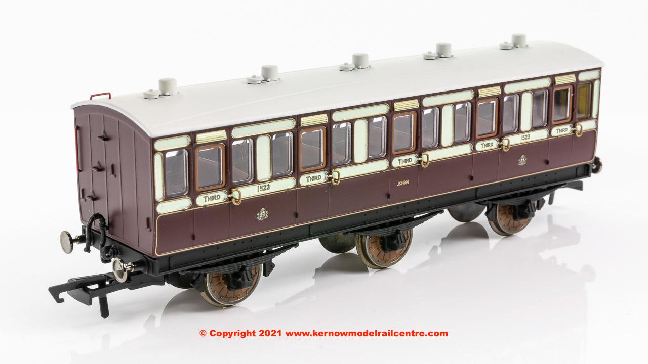 R40120 Hornby LNWR 6 Wheel 3rd Class Coach number 1523