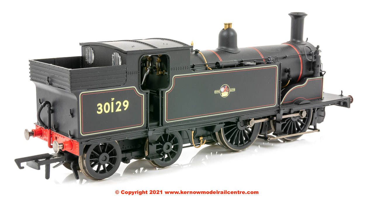 R3531 Hornby M7 Class Steam Locomotive number 30129 in BR Black livery with Late Crest