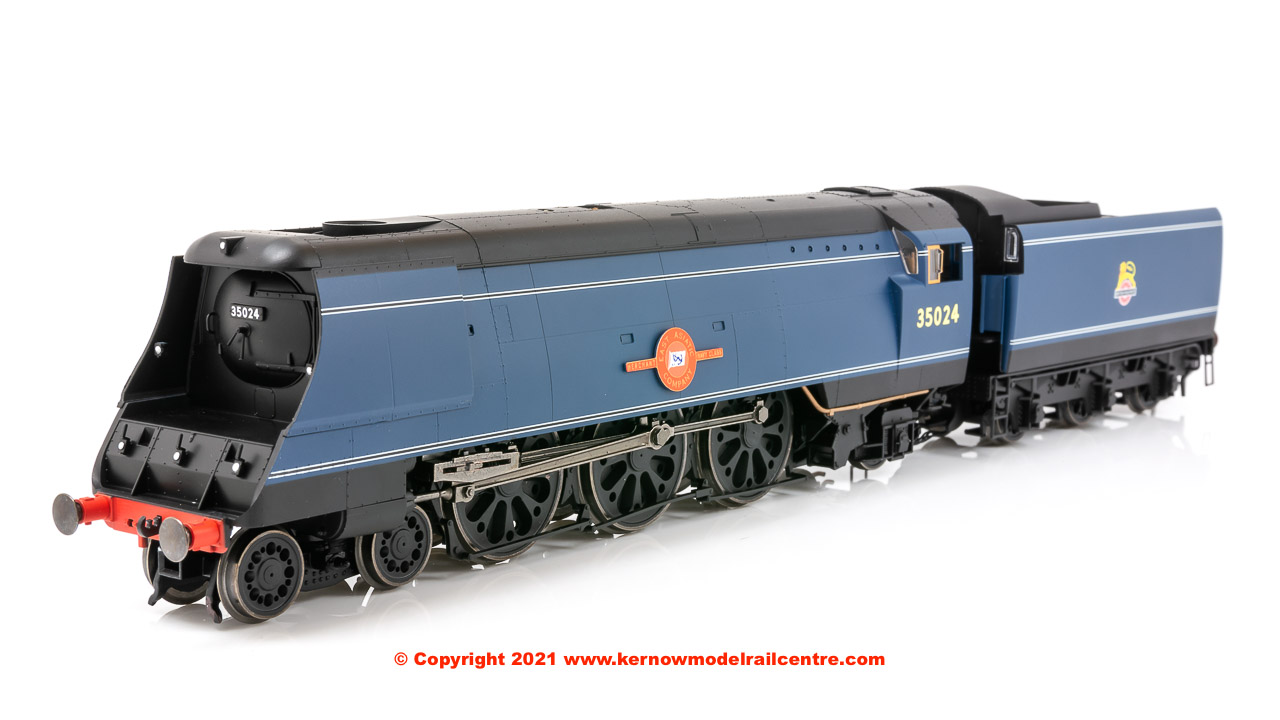 R3632 * Hornby Merchant Navy Class Steam Locomotive number 35024 Image