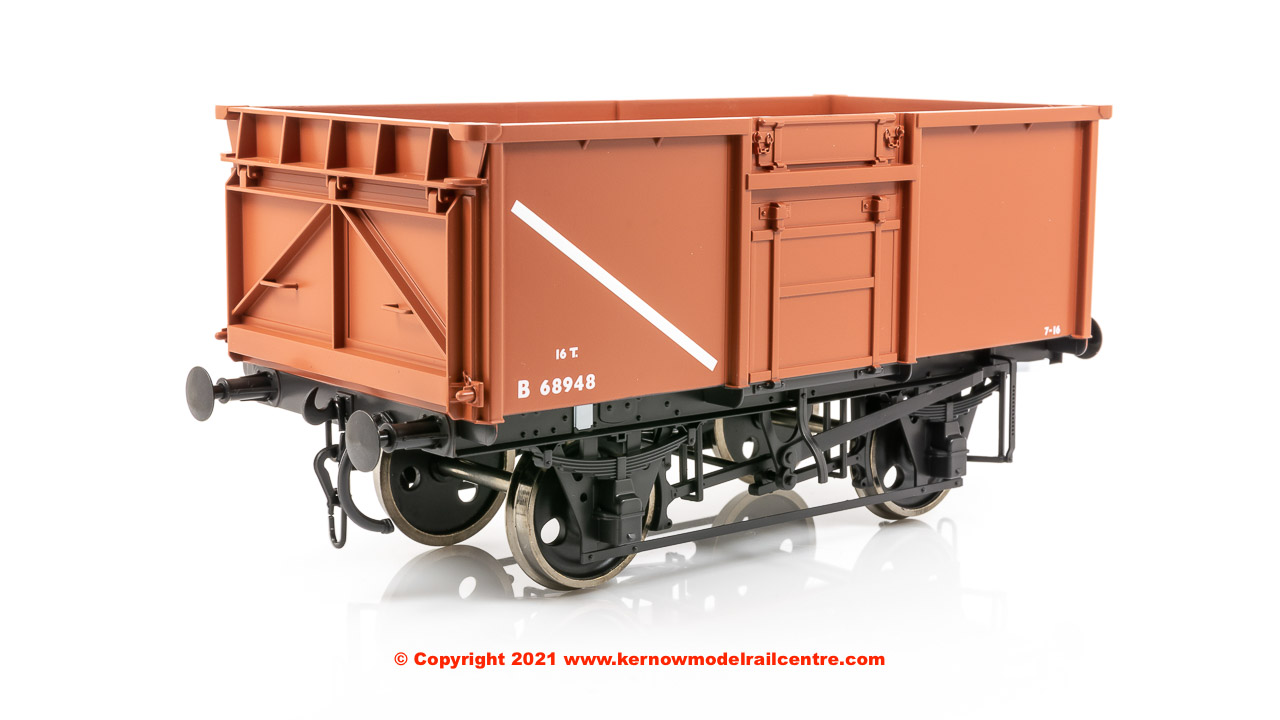 7F-030-012 Dapol 16 Ton Steel Mineral Wagon number B68948 in BR Bauxite - welded Dg 1/114T