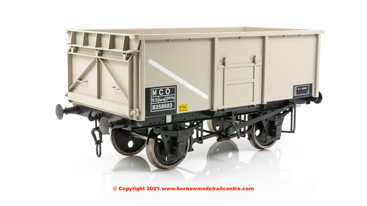 7F-030-015 Dapol 16 Ton Steel Mineral Wagon MCO number B258683 in BR Grey - welded Dg 1/099