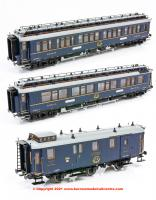 H44022 Hobbytrain CIWL Simplon Orient Express Coach Set - Pack of 3 - Era II