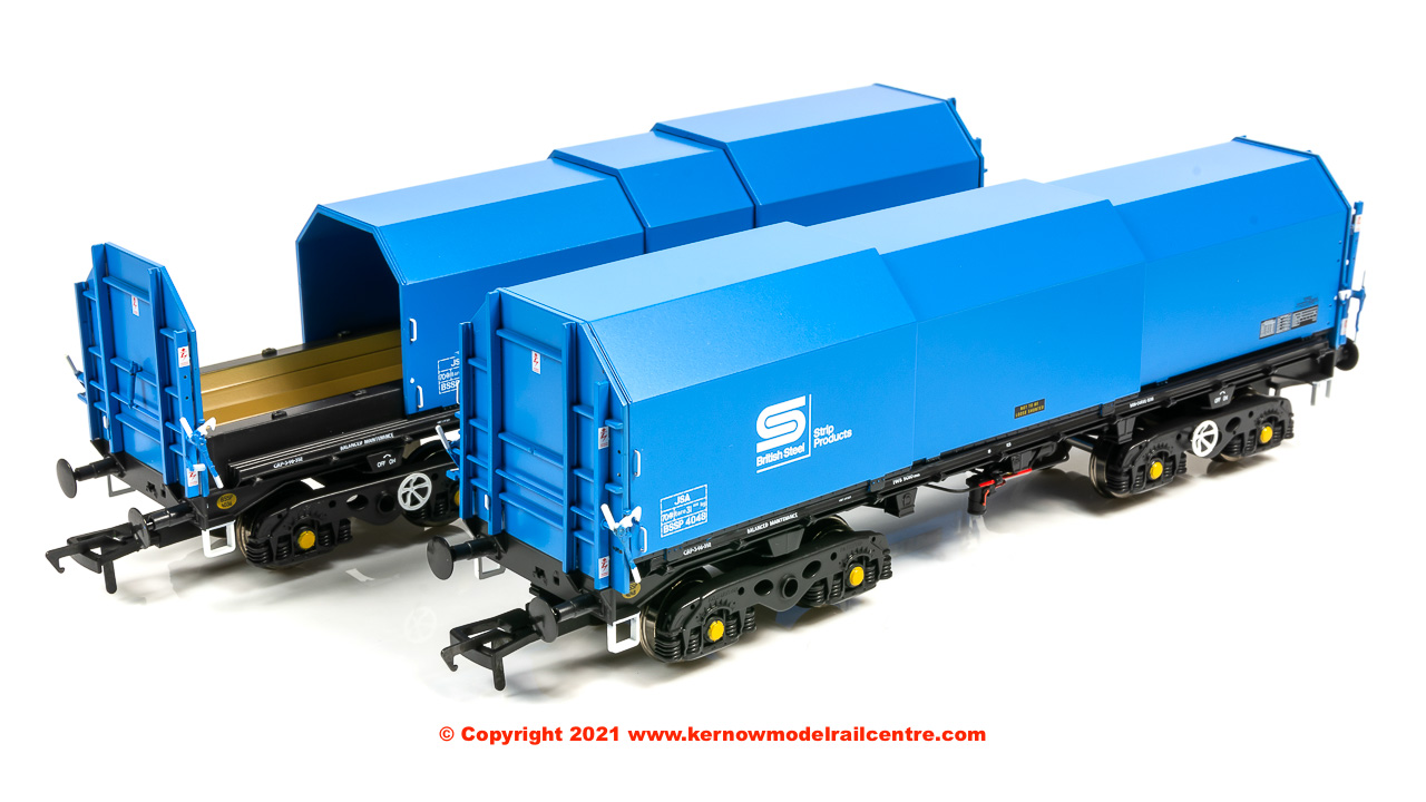 ACC2121BSC2 Accurascale JSA Bogie Covered Steel Wagon Twin Pack image