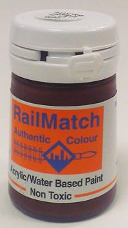 2236 RailMatch 18mls Pot Dark Bauxite Late Acrylic