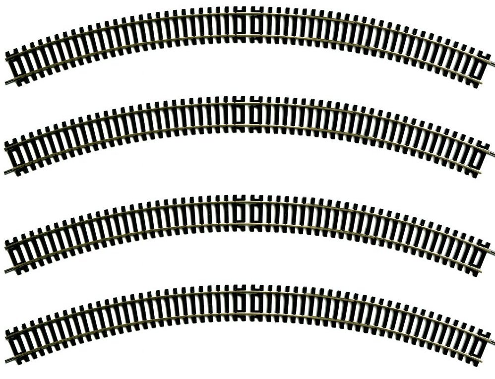 36-609 BULK Bachmann 3rd Radius Double Curve 505mm (Pack of 4)