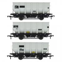 ACC1007-HUO-P Accurascale British Railways 24.5-ton HOP24 / HUO Coal Hopper Wagon - Three wagon multi-pack - Grey pre-TOPS Pack P