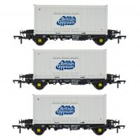 ACC2075GYPU Accurascale PFA - Container Wagon Triple Pack U - Gypsum Container