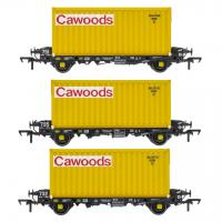 ACC2087CWDS Accurascale PFA - Container Wagon Triple Pack S - Cawood Container