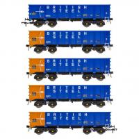 ACC2103BSCB Accurascale PTA JTA + JUA Bogie Tippler Wagon - British Steel Blue Outer Pack