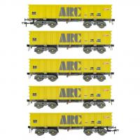 ACC2106ARC1 Accurascale PTA JTA + JUA Bogie Tippler Wagon - ARC CAIB Mustard Outer Pack