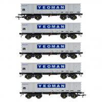 ACC2110YEO1 Accurascale PTA JTA + JUA Bogie Tippler Wagon - Yeoman Procor Grey / Ivory Outer Pack