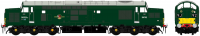 ACC2302D6702DCC Accurascale Class 37/0 Diesel Locomotive number D6702 in BR Green livery with small yellow panels