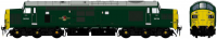 ACC2303D6704DCC Accurascale Class 37/0 Diesel Locomotive number D6704 in BR Green livery with full yellow ends