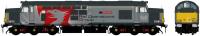 "ACC231937608DCC Accurascale Class 37/6 Diesel Locomotive number 37 608 named ""Andromeda"" in Europhoenix ROG livery"