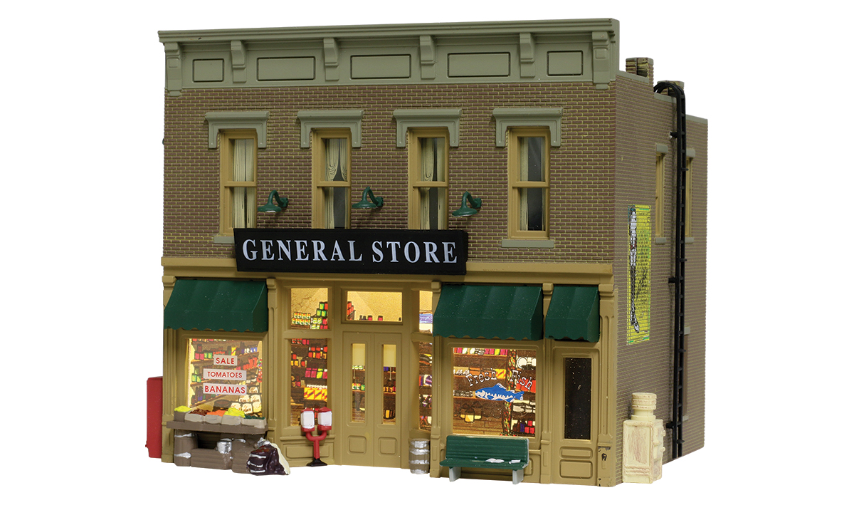 BR5021 Woodland Scenics Country Lubeners General Store Built and Ready Structure.