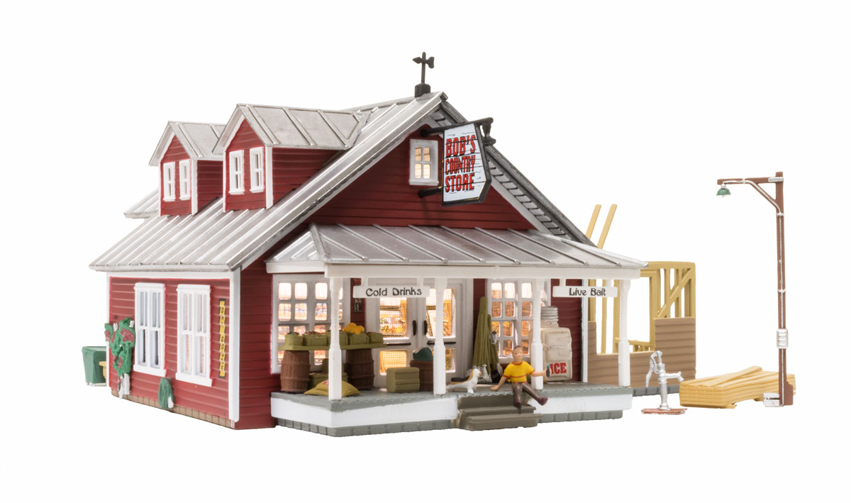 BR5031 Woodland Scenics Country Store Expansion Built and Ready Structure.