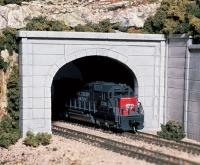 C1156 Woodland Scenics Tunnel Portals Double Track Concrete (Pack of 2).