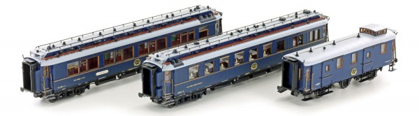 H44023 Hobbytrain CIWL Simplon Orient Express Coach Set - Pack of 3 - Era II