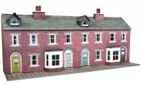 PN174 Metcalfe Low Relief Terraced House Fronts kit - Red Brick