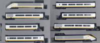 10-1295 Kato Class 373 Eurostar 8 Car Train Pack - Set numbers 373 005 and 373 006 in original Eurostar livery